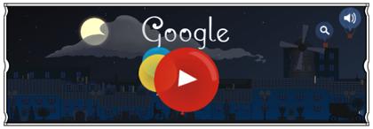 Googleロゴ「クロード ドビュッシー」に