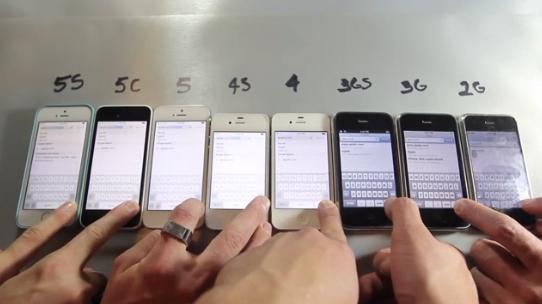 iPhone 2GからiPhone 5sまで!歴代iPhoneをスピード比較した動画