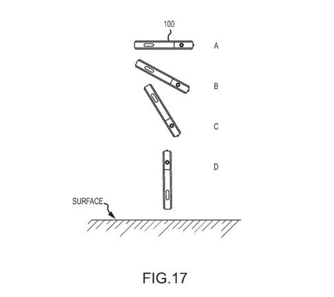 iPhoneを落としても液晶画面が割れないようにする特許