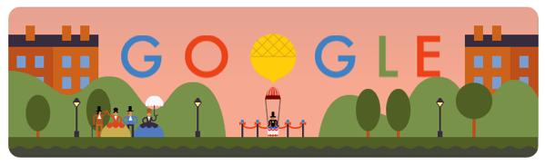 Googleロゴ「アンドレ ジャック ガルヌラン」に