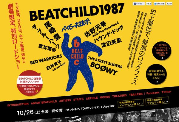 ブルーハーツや佐野元春、岡村靖幸、尾崎豊が出演したロックフェス「BEATCHILD 1987」が映画になってた!