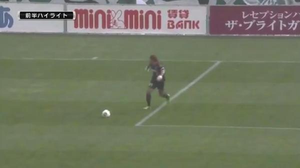 【動画あり】松本山雅GKのフリーキックがそのまま相手ゴールに入り得点