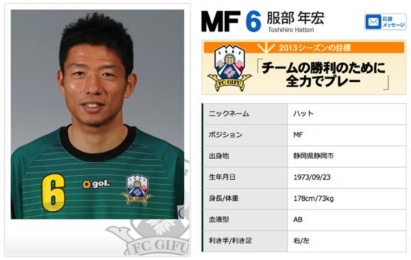 FC岐阜・元日本代表の服部年宏、現役引退を発表
