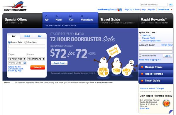 サウスウェスト航空、機内WiFiサービスを離着陸時も利用可能に