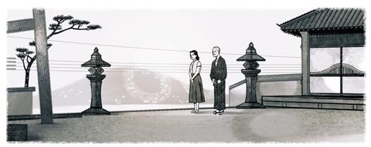 Googleロゴ「小津安二郎」に
