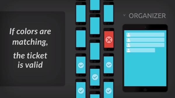 「ColorSync」スマートフォンの画面に表示した色で入場を認証するシステム