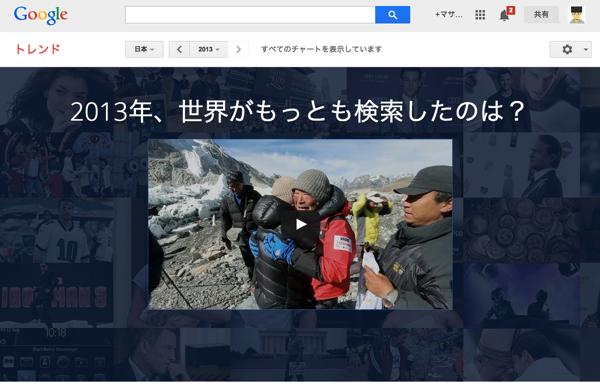 Google、2013年の検索ワード及び急上昇ワードランキング「Google Zeitgeist 2013」発表