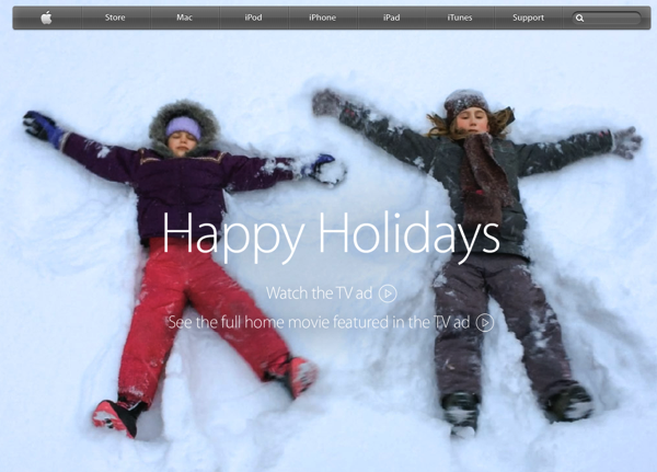 Apple「Happy Holidays」のテレビCMがジーンときちゃう!