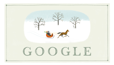Googleロゴ「Happy Holidays」に