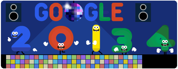Googleロゴ「年末」に