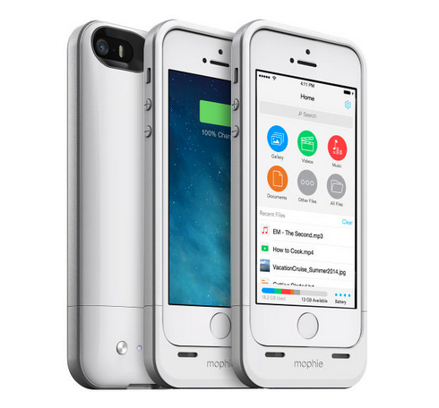 「mophie space pack for iPhone」ストレージ内蔵のiPhone 5/5s用バッテリケース