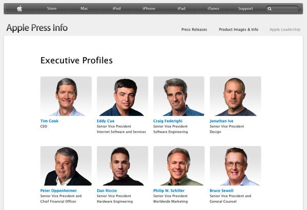 Jonathan IveがAppleの役員リストが消える → 技術的問題だったことが判明