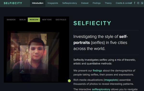 「SELFIECITY」世界5都市のSelfie(自分撮り)を分析するサイト