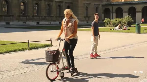インラインスケートと自転車が合体!?「AeYO」