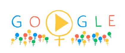 Googleロゴ「国際女性デー 2014」に