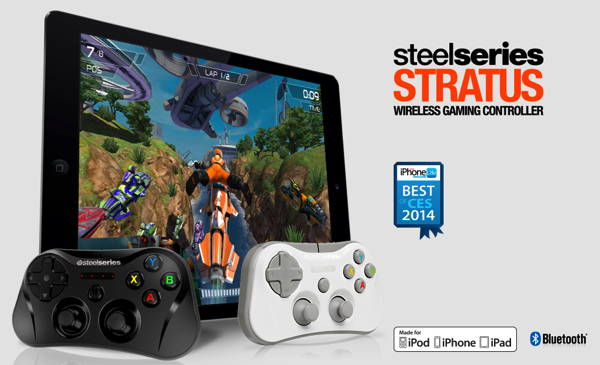 最大4人のマルチプレイ対応!iPad/iPhone/iPod touch用ゲームコントローラー「SteelSeries Stratus Wireless Gaming Controller」