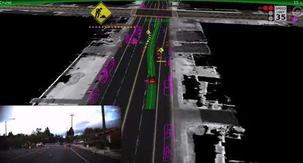 【動画あり】市街地を走るGoogleの自動運転カーは刻一刻と変化する周辺の状況を把握しながら走行している