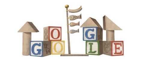 Googleロゴ「こどもの日」に