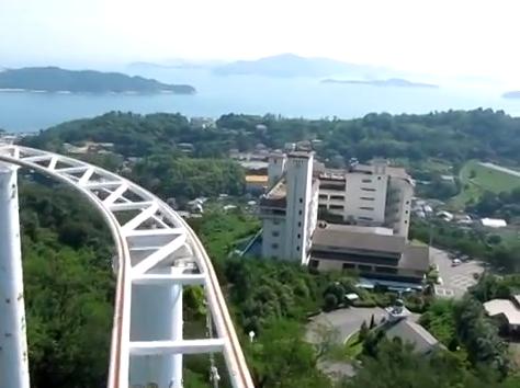 【動画あり】岡山県「鷲羽山ハイランド」のスカイサイクルが怖すぎると話題に