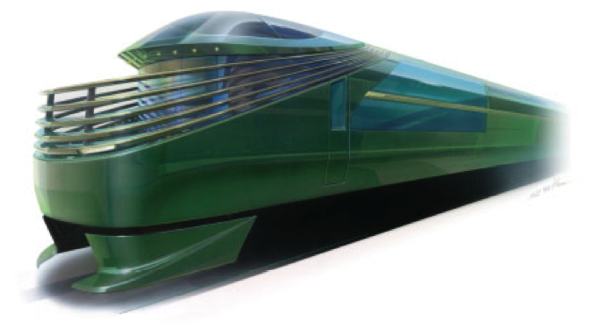 JR西日本、開発中の豪華寝台列車のイメージを発表 → 緑色の「ザク」!?