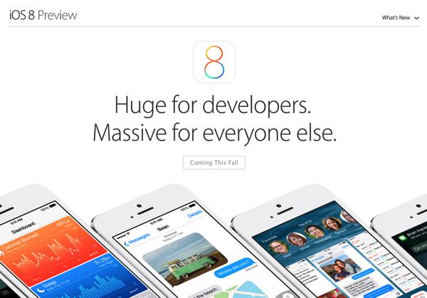 Apple「iOS 8」発表 → 開発者向けに「HomeKit」「CloudKit」などをリリース