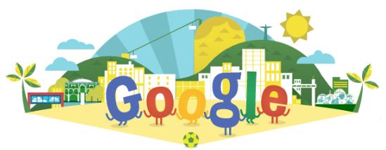 Googleロゴ「ワールドカップ 2014」に