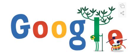 Googleロゴ「ワールドカップ2014」に(6月13日)