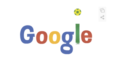 Googleロゴ「ワールドカップ2014」に(6月14日)