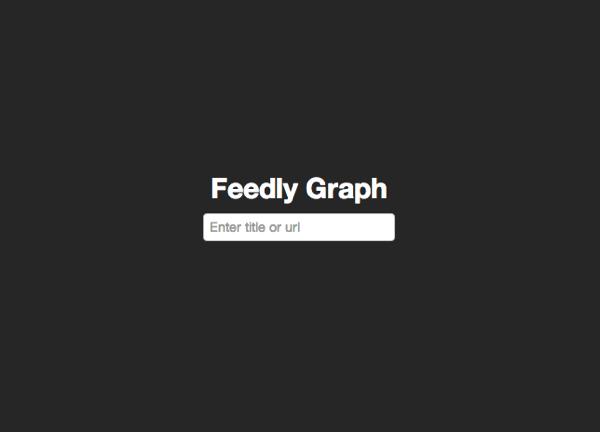 Feedlyの登録者数の推移を計測するサイト「FeedlyGraph」