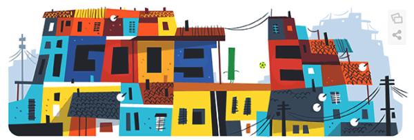 Googleロゴ「ワールドカップ2014」に(6月18日)