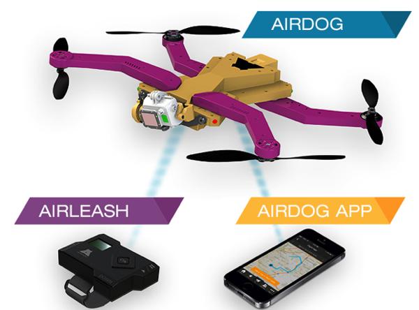 セルフィー新時代!人を追いかけて飛行し空撮するドローン「AirDog」Kickstarterに登場