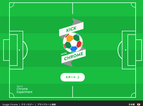 【Google Chrome】PCとスマホを連携させて遊べる3種類のサッカーゲーム「Kick with Chrome」