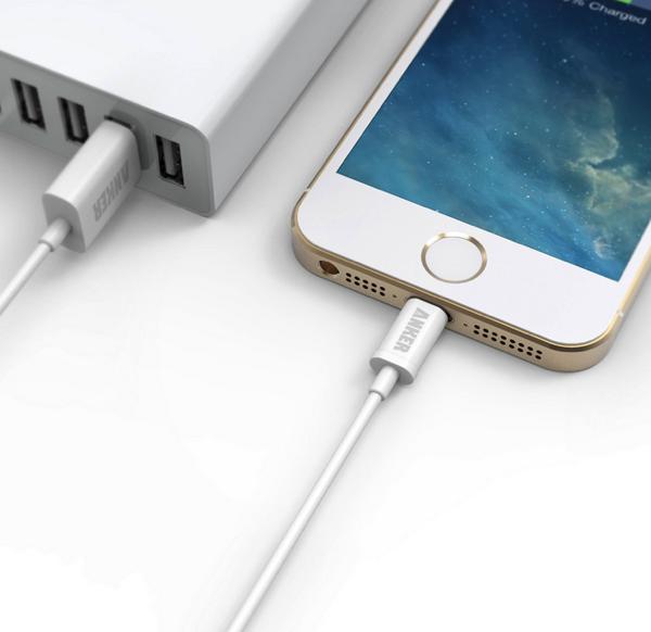 【個数限定】Apple認証MFi取得のLightningケーブル「Anker® Apple認証(Made for iPhone取得)iPhone 5/5c/5s用 ライトニングUSBケーブル」がAmazonで999円