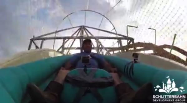 【動画あり】50mって高すぎワロタwww 世界で最も高いウォータースライダー「Verruckt」最初のテストの様子