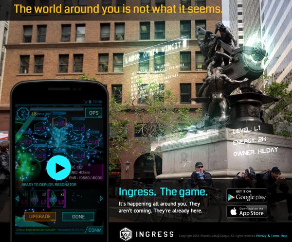 iPhone版「Ingress」現実世界と絡み合うブルーとグリーンの陣取り合戦!ドハマりして初日から10km以上歩いています!ダイエットにも最適!