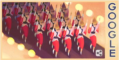 Googleロゴ「阿波踊り」に