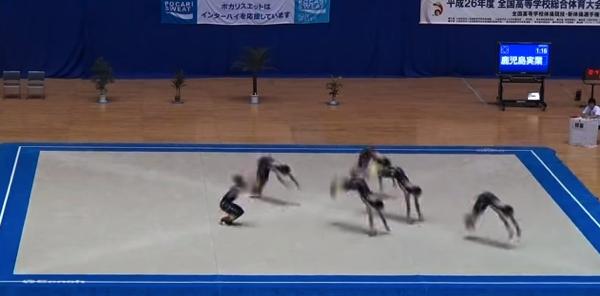 【動画】進撃の巨人から笑点まで!鹿児島実業高校の男子新体操が凄い