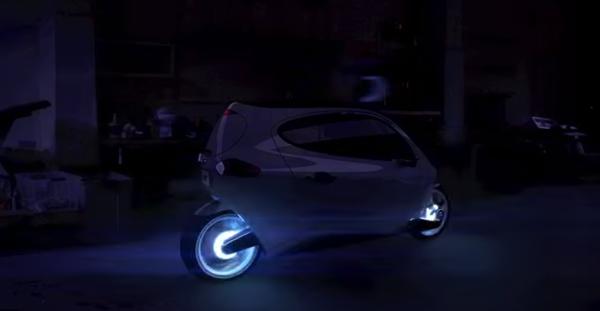 【動画】ジャイロシステムで倒れない!フォルムにも未来を感じるバイク「Lit Motors C-1」