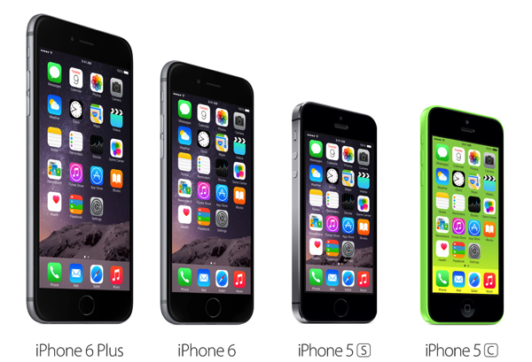「iPhone 6 Plus」「iPhone 6」「iPhone 5s」「iPhone 5c」Appleが比較ページを公開