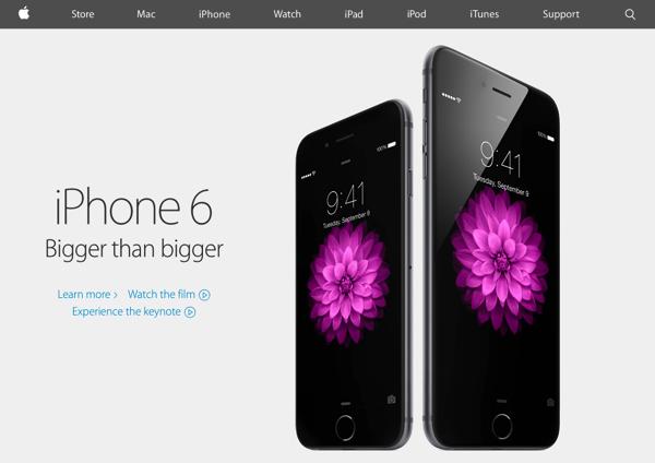 Appleのウェブデザインが変わる → フラットな感じに