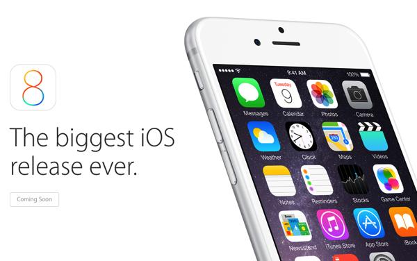 【iOS 8】日本時間の9月18日2時にリリースか?