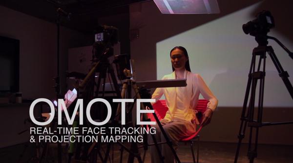 【動画】リアルタイムに顔の動きをトラッキングしてプロジェクションマッピング