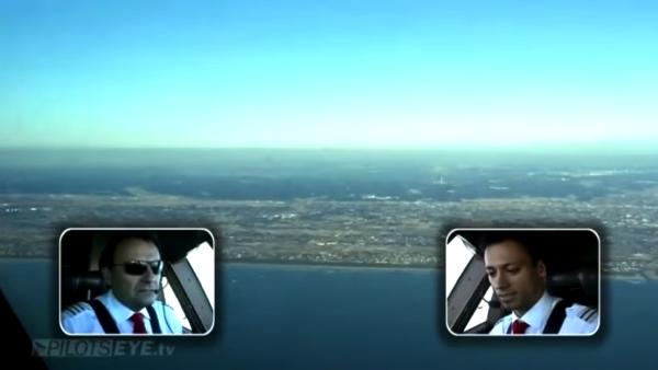 【動画】オーストリア航空機が成田空港に着陸する際のコックピットの一部始終