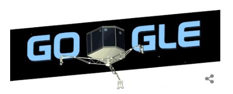 Googleロゴ「着陸機フィラエ」に