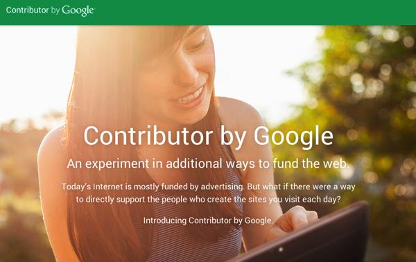 """「Google Contributor」サイトのファンから""""投げ銭""""を貰い広告を非表示にするサービス"""