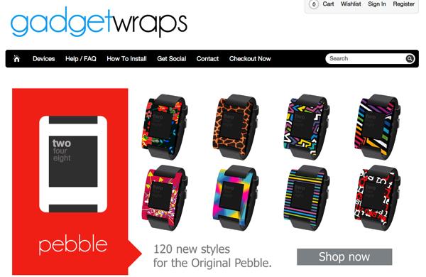 【Pebble】着せ替えパネルでデザインのカスタマイズが可能