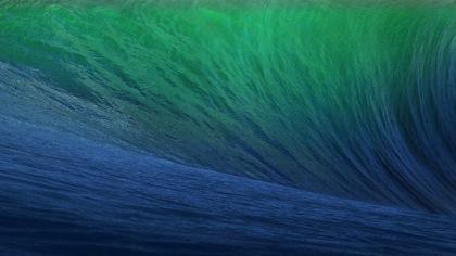 「OS X Mavericks」波のデスクトップピクチャ(壁紙)をダウンロードする方法
