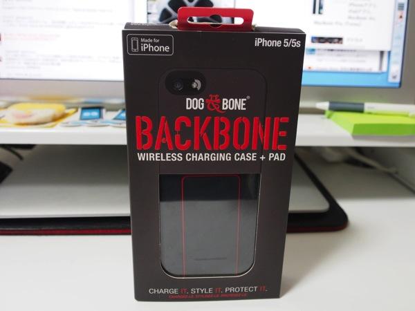 「BACKBONE」Qi互換のワイヤレス充電機能を搭載したiPhoneケース(専用チャージボード付き)