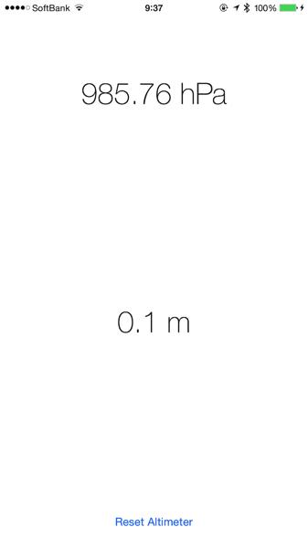 リアルタイムに気圧を計測!iPhone 6/6 Plusの気圧センサーを利用するアプリ「Barometer for iPhone 6/6 Plus」