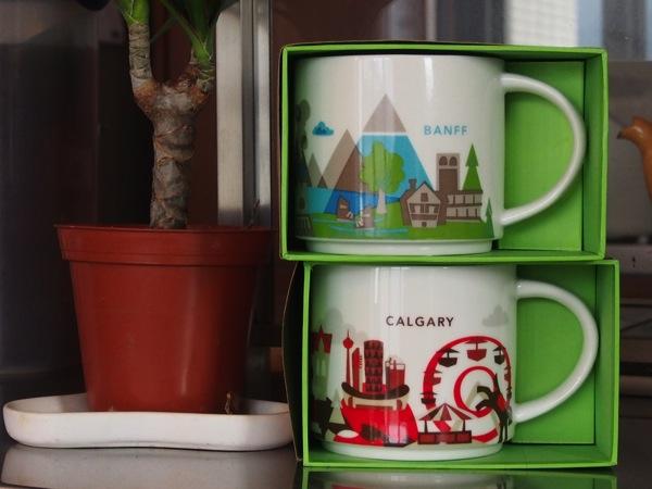 カナダ・アルバータのスターバックスご当地マグカップ「BANFF」「CALGARY」購入! #冬のカナディアンロッキー